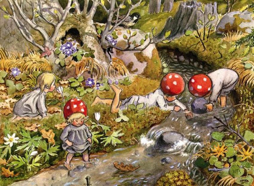 Płynąca z lasami: W Dniu Dziecka/Ilustracja: Elsa Beskow