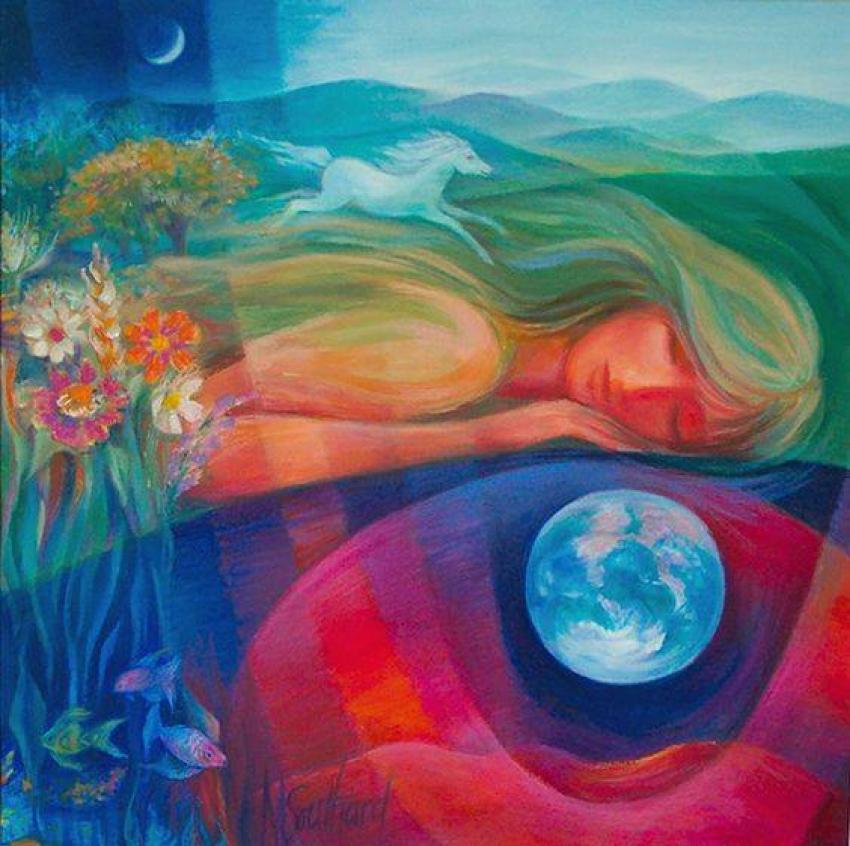 Płynąca z lasami: NOWE MARZY/Ilustracja: marysouthardart.org